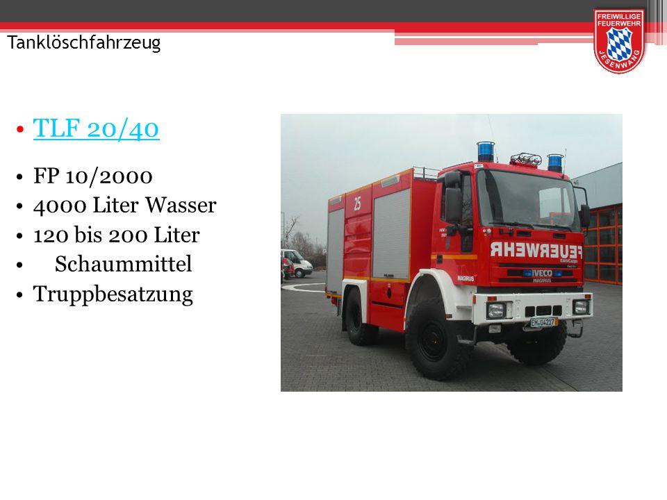 TLF 20/40 FP 10/2000 4000 Liter Wasser 120 bis 200 Liter Schaummittel