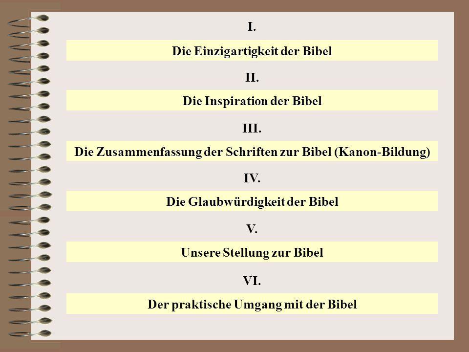 Die Einzigartigkeit der Bibel