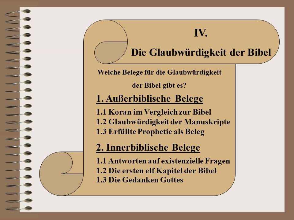 Die Glaubwürdigkeit der Bibel Welche Belege für die Glaubwürdigkeit