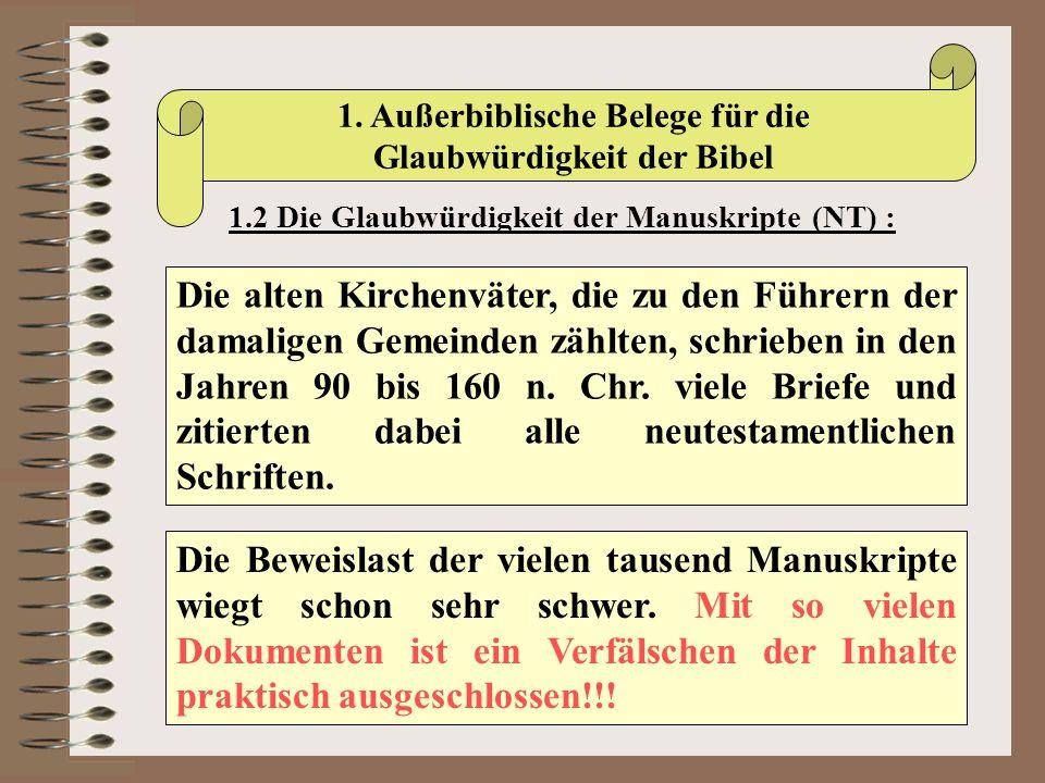1. Außerbiblische Belege für die