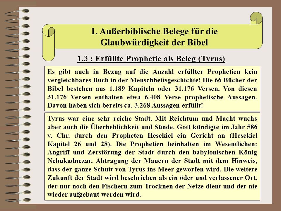 1. Außerbiblische Belege für die Glaubwürdigkeit der Bibel