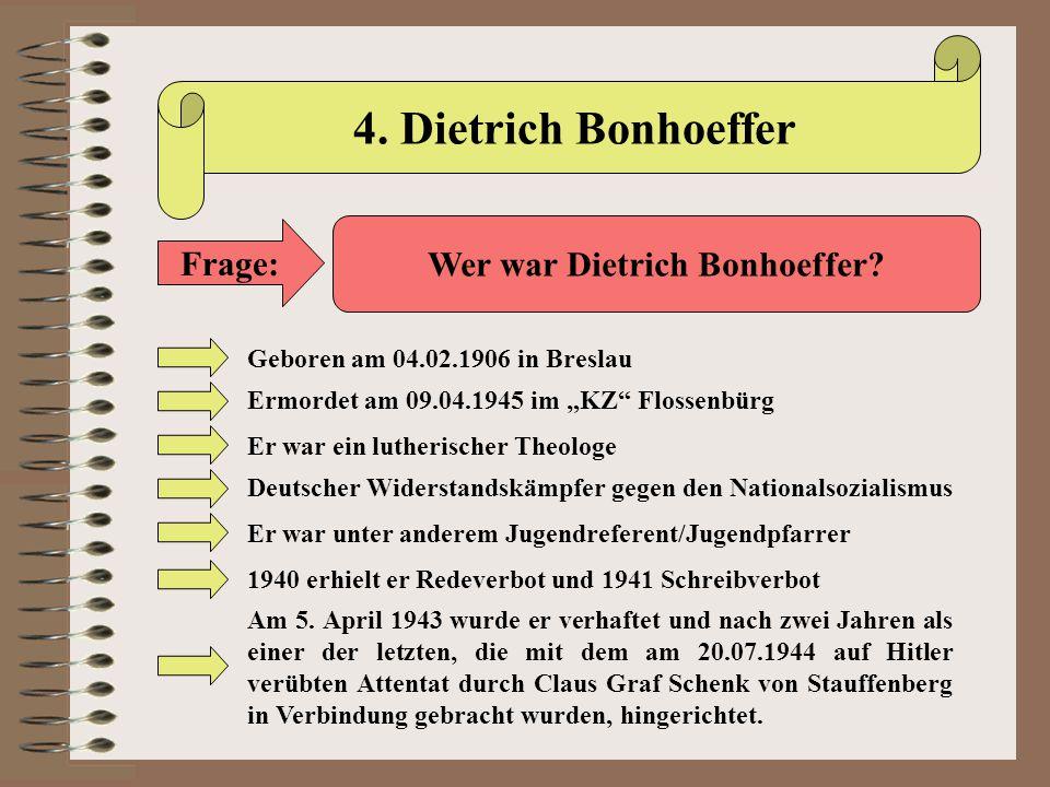 Wer war Dietrich Bonhoeffer