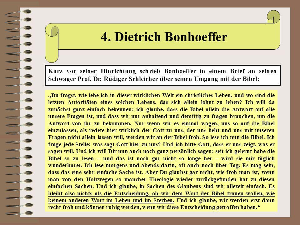 4. Dietrich Bonhoeffer