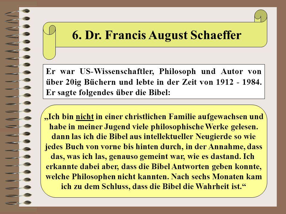 6. Dr. Francis August Schaeffer