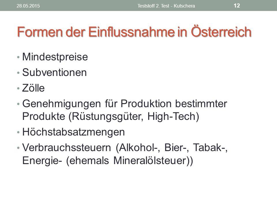 Formen der Einflussnahme in Österreich