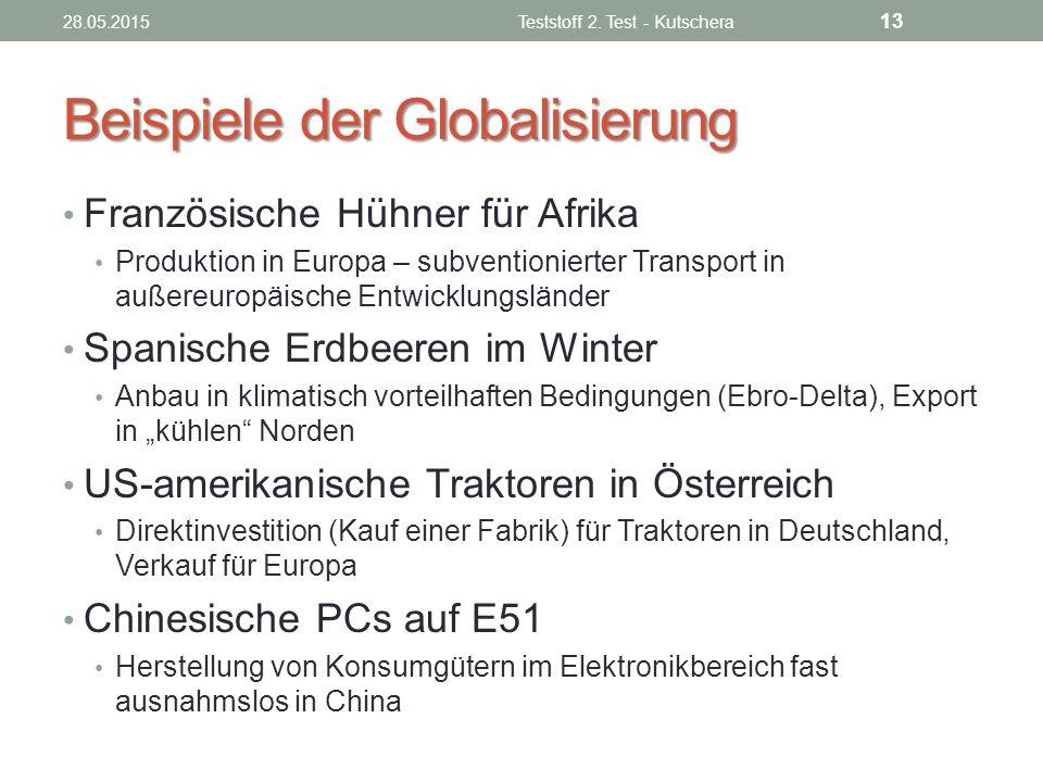 Beispiele der Globalisierung