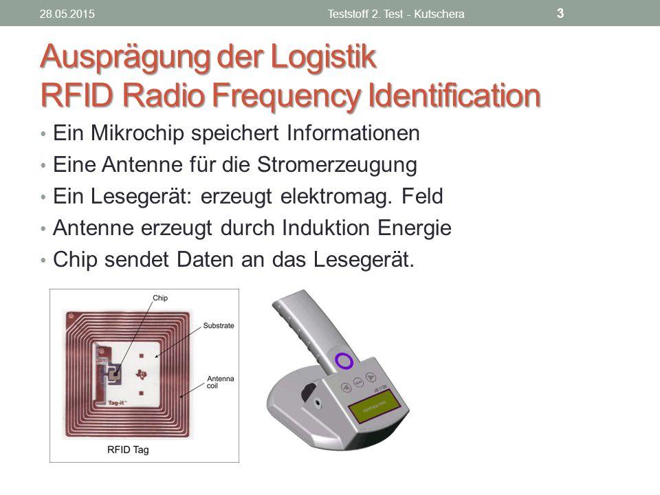 Ausprägung der Logistik RFID Radio Frequency Identification
