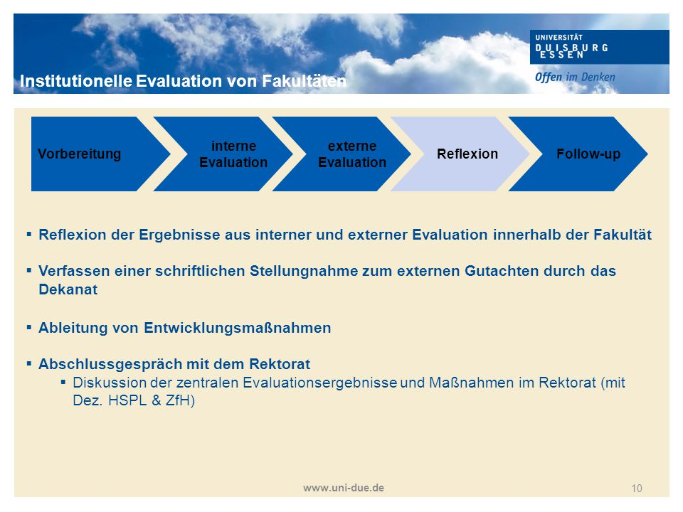 Institutionelle Evaluation von Fakultäten