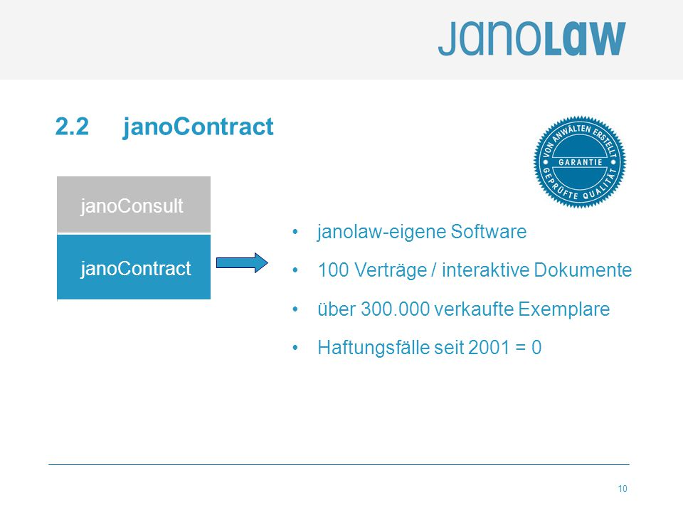 2.2 janoContract janoConsult janolaw-eigene Software