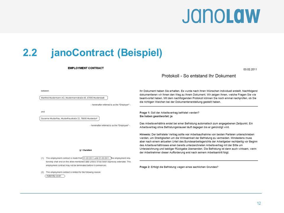 2.2 janoContract (Beispiel)