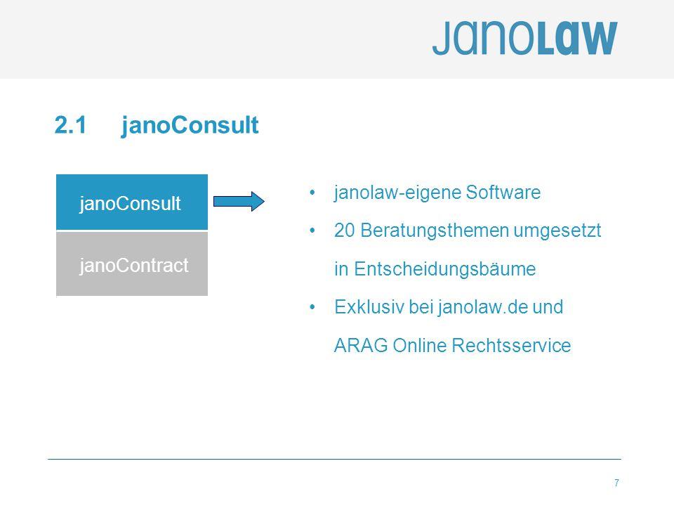 2.1 janoConsult janolaw-eigene Software janoConsult