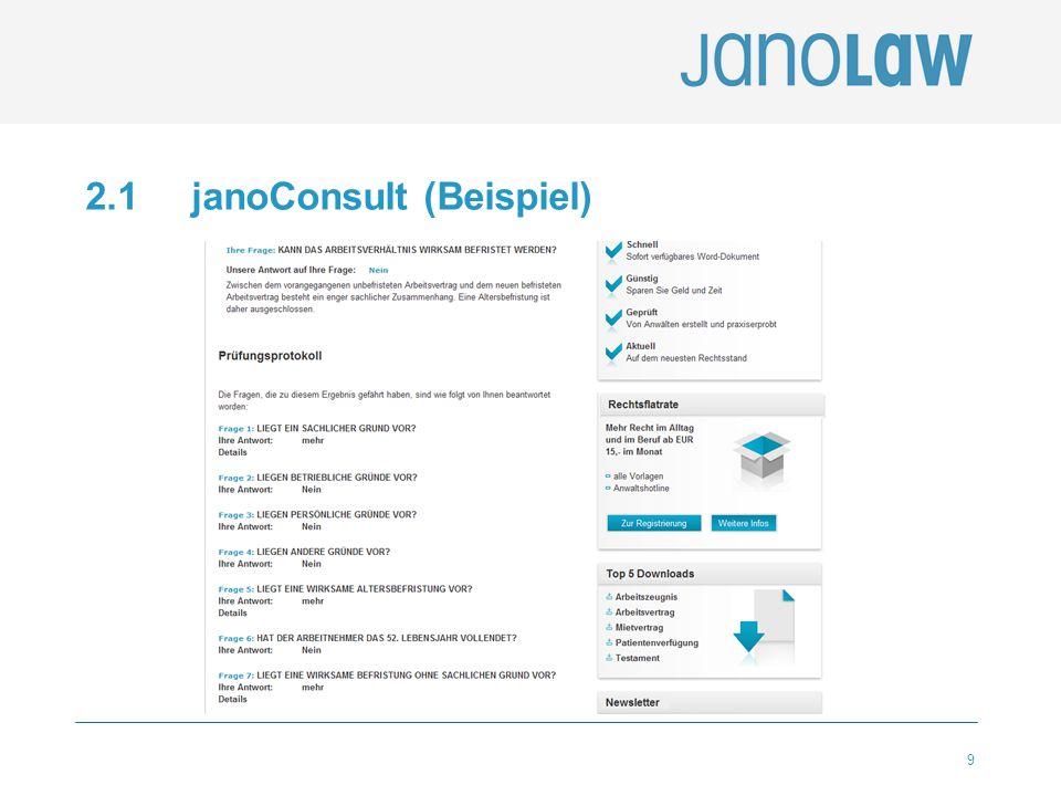 2.1 janoConsult (Beispiel)