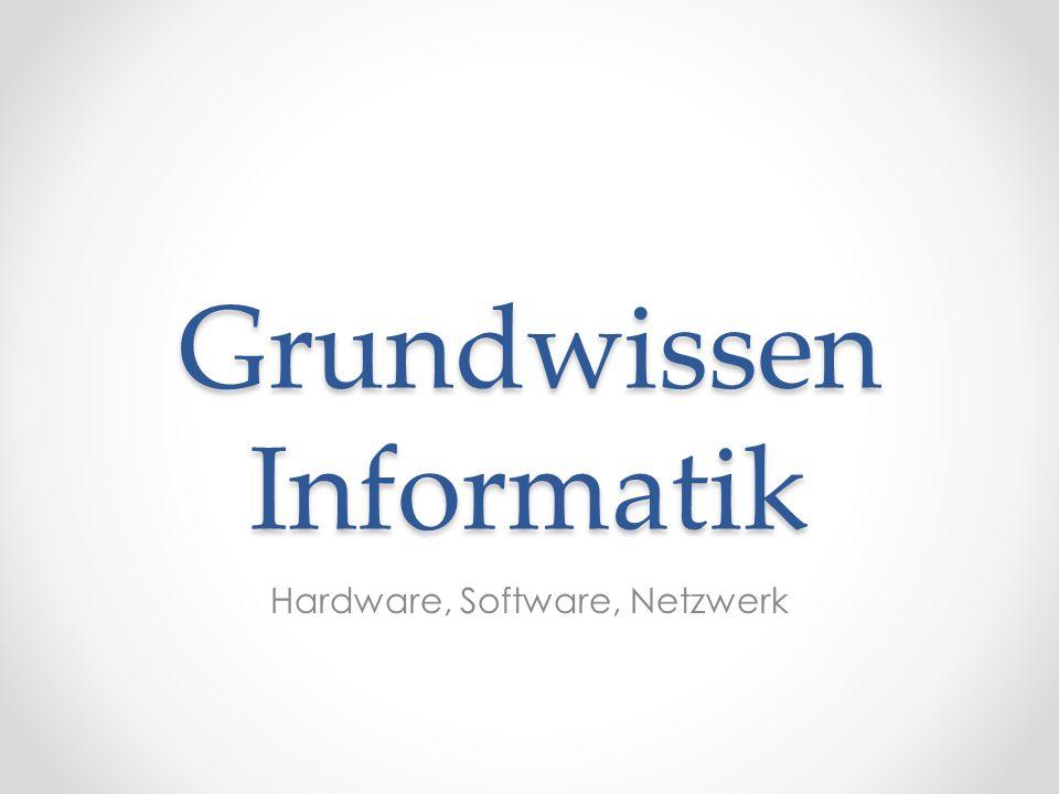 Grundwissen Informatik