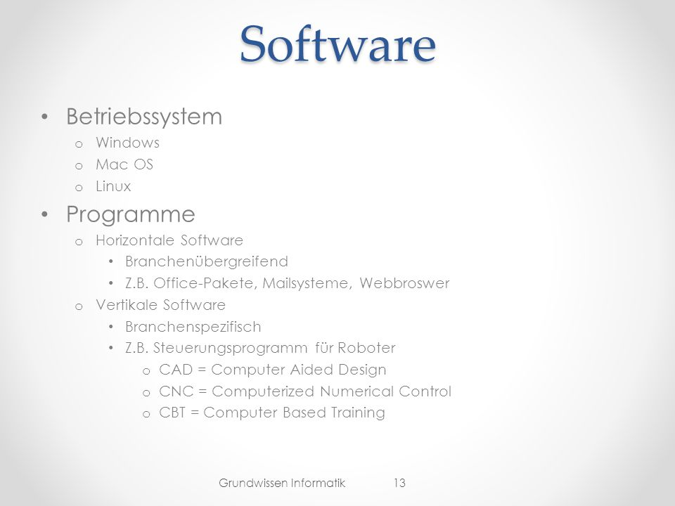 Software Betriebssystem Programme Windows Mac OS Linux