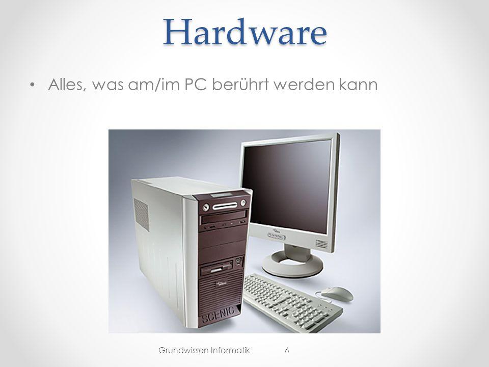 Hardware Alles, was am/im PC berührt werden kann