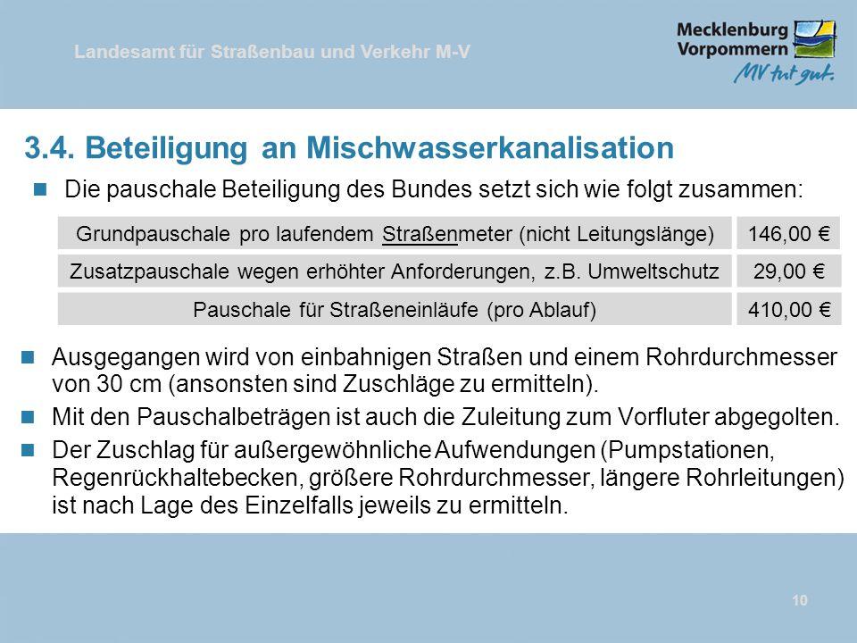 3.4. Beteiligung an Mischwasserkanalisation