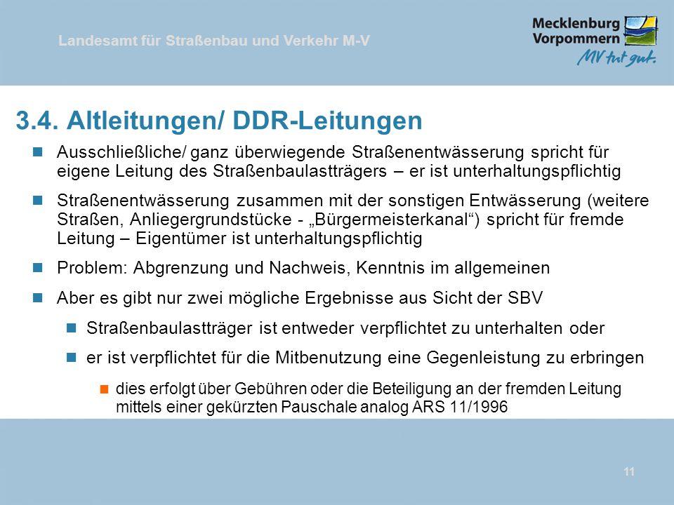 3.4. Altleitungen/ DDR-Leitungen