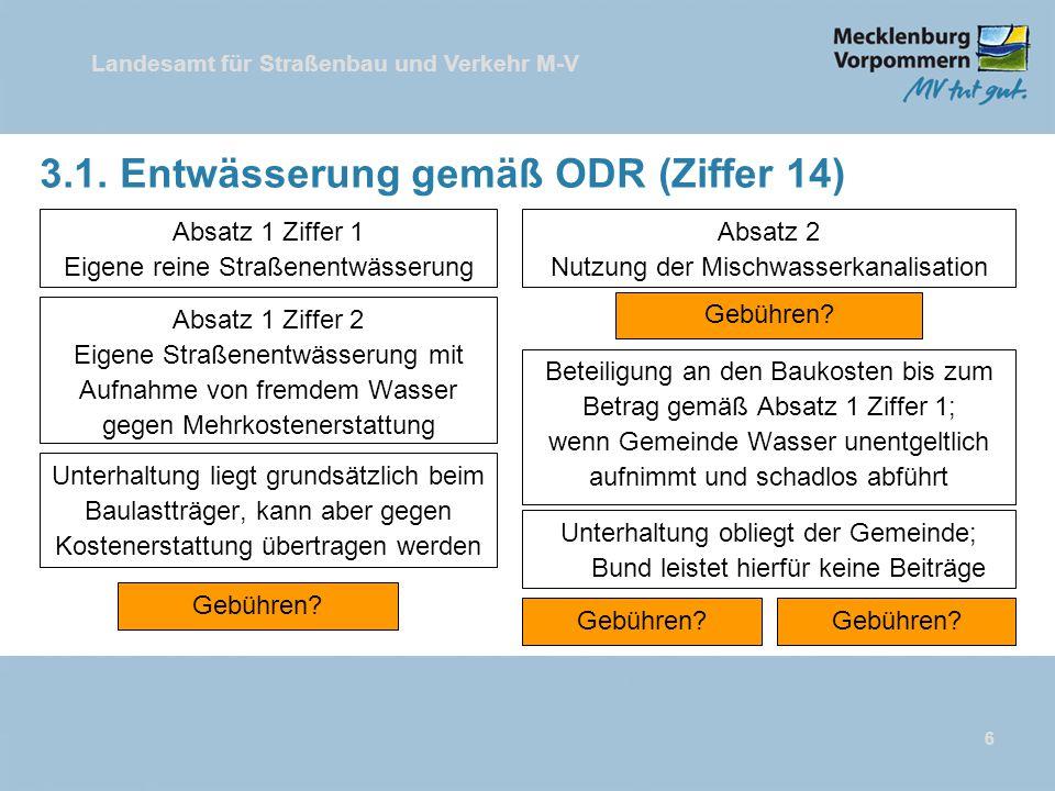 3.1. Entwässerung gemäß ODR (Ziffer 14)