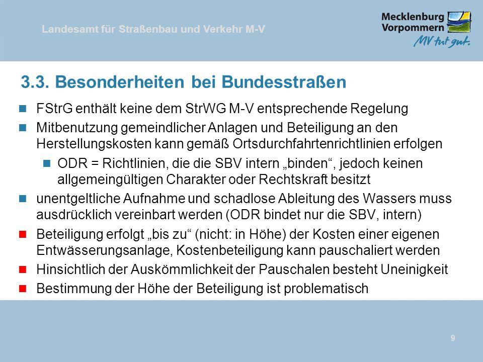 3.3. Besonderheiten bei Bundesstraßen
