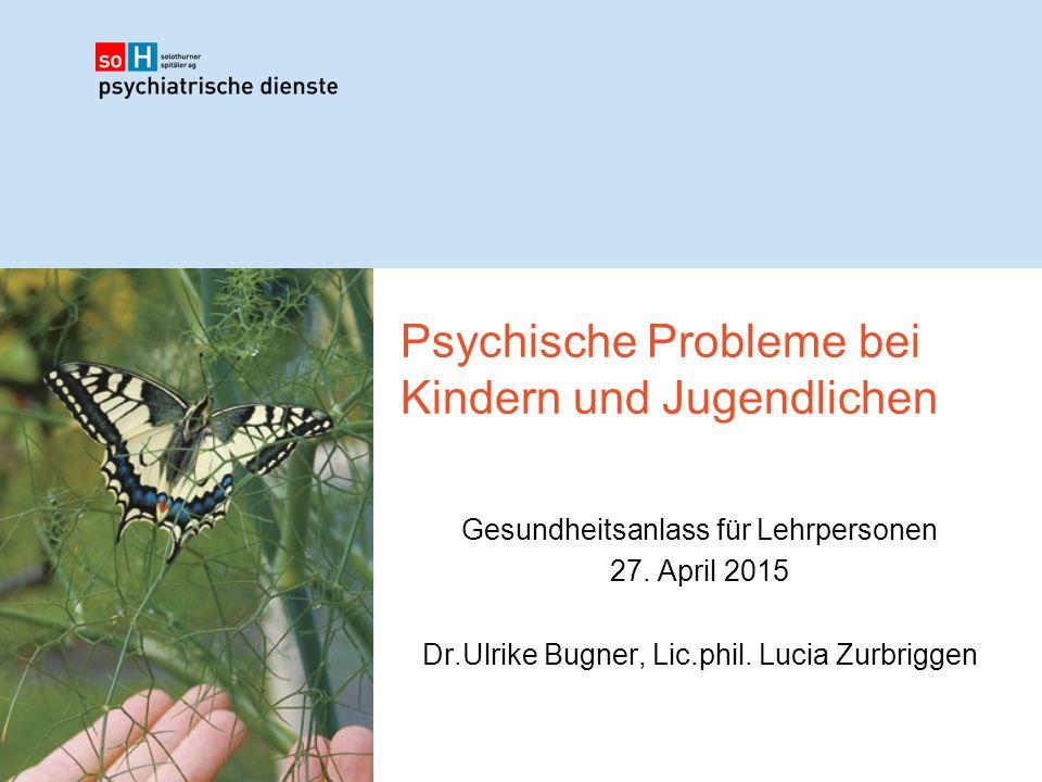 Psychische Probleme bei Kindern und Jugendlichen