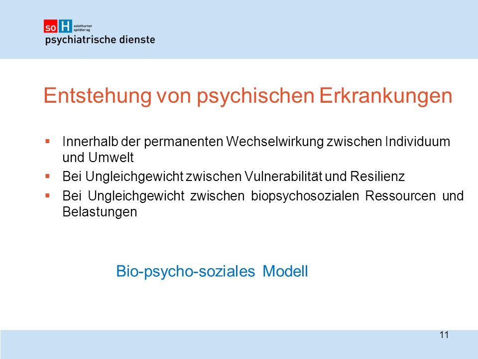 Entstehung von psychischen Erkrankungen