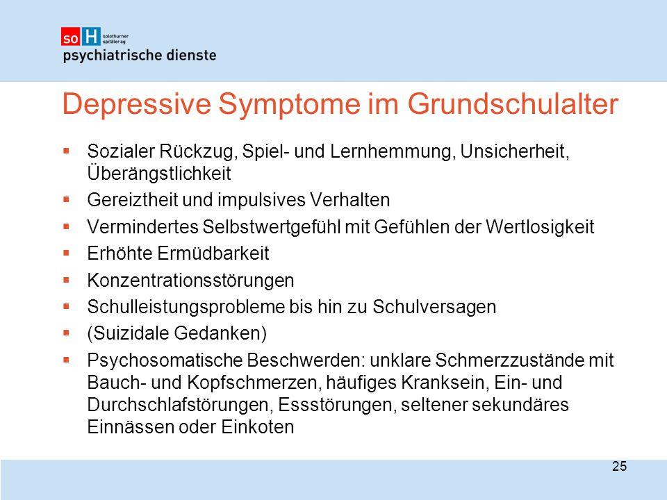 Depressive Symptome im Grundschulalter