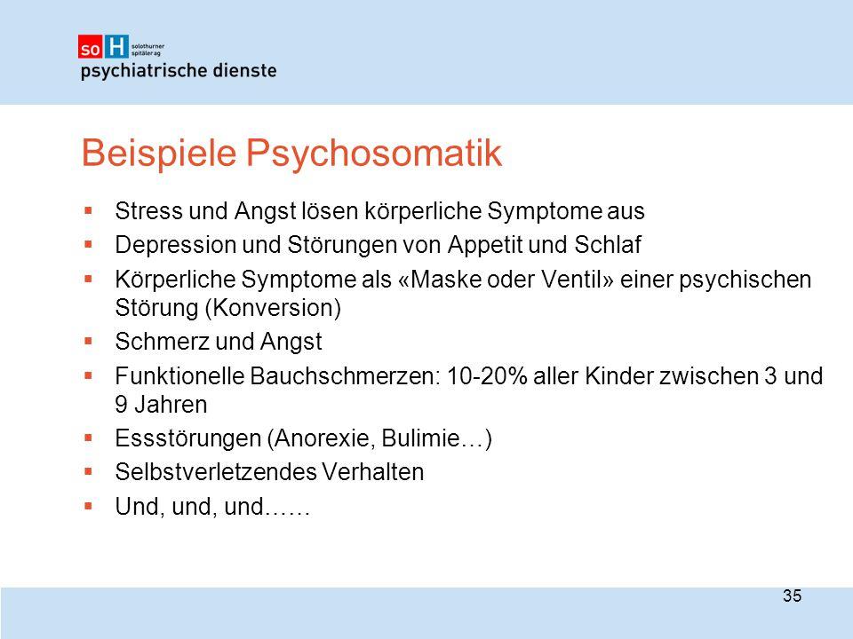 Beispiele Psychosomatik