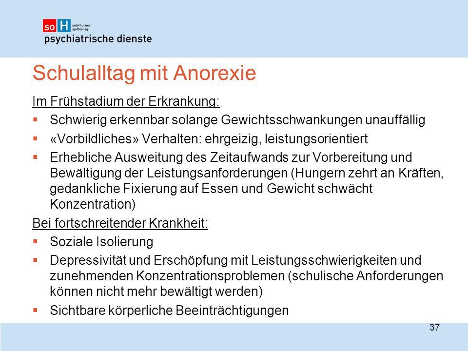 Schulalltag mit Anorexie
