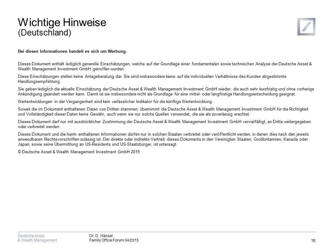 Wichtige Informationen (Schweiz, Österreich, Luxemburg)