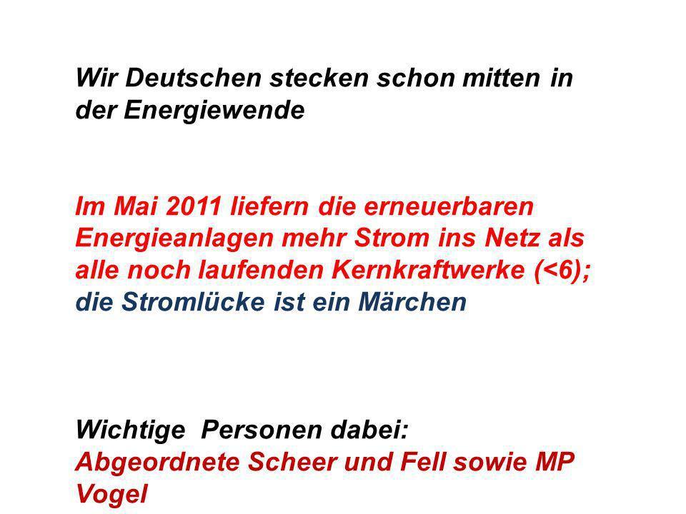 Wir Deutschen stecken schon mitten in der Energiewende