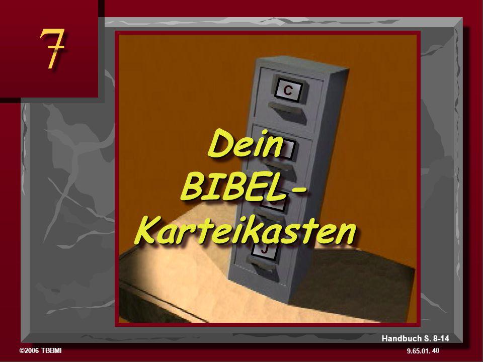 Dein BIBEL- Karteikasten