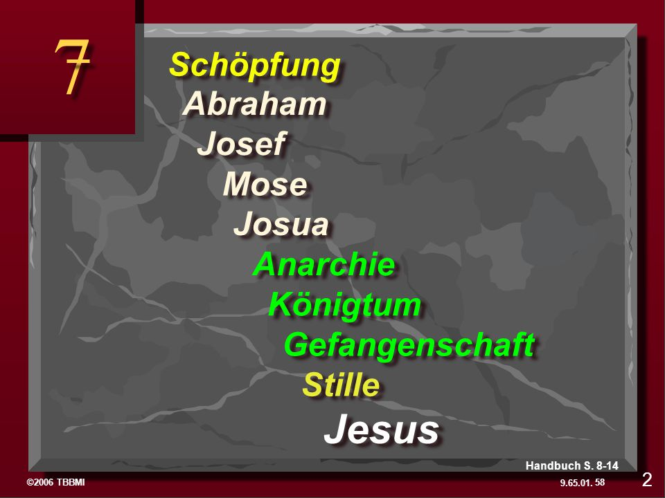 7 The Last Two Folders Jesus Schöpfung Abraham Josef Mose Josua