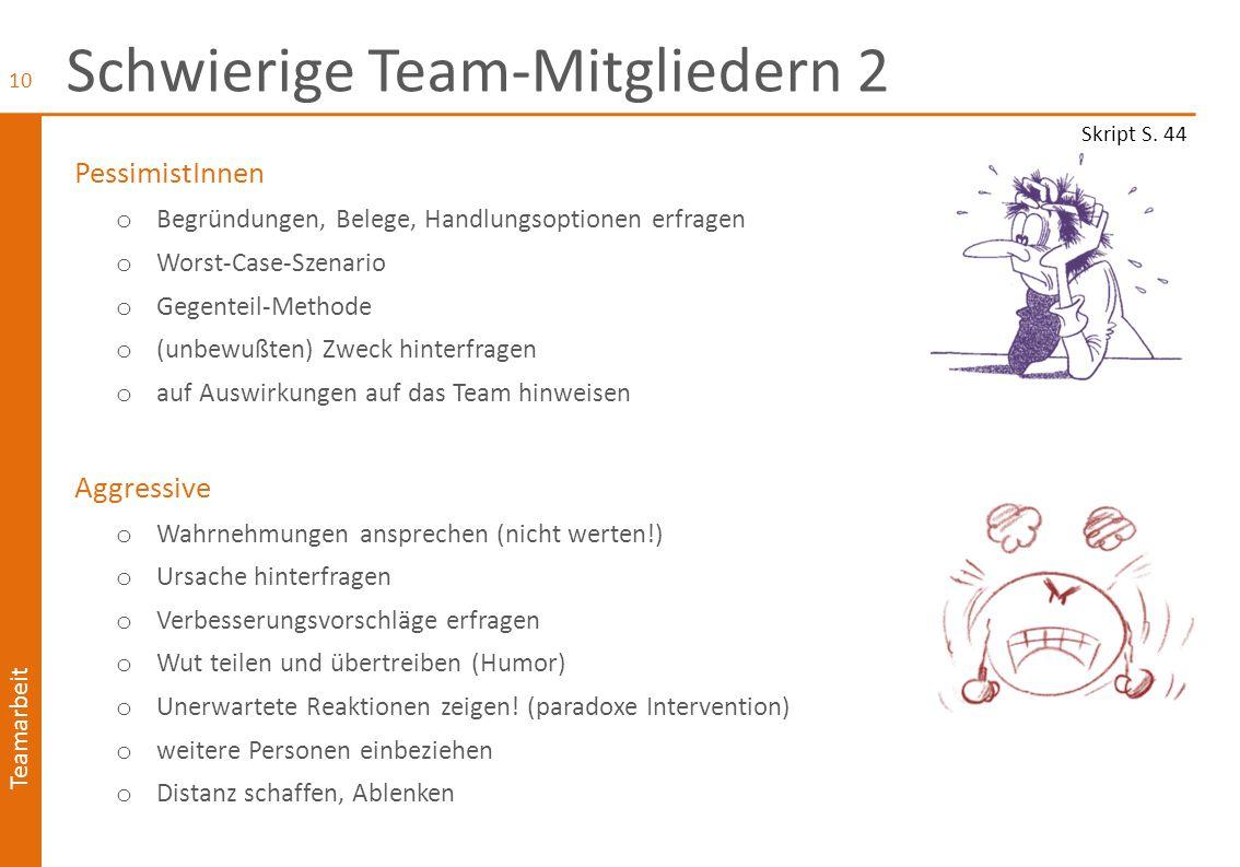 Schwierige Team-Mitgliedern 2