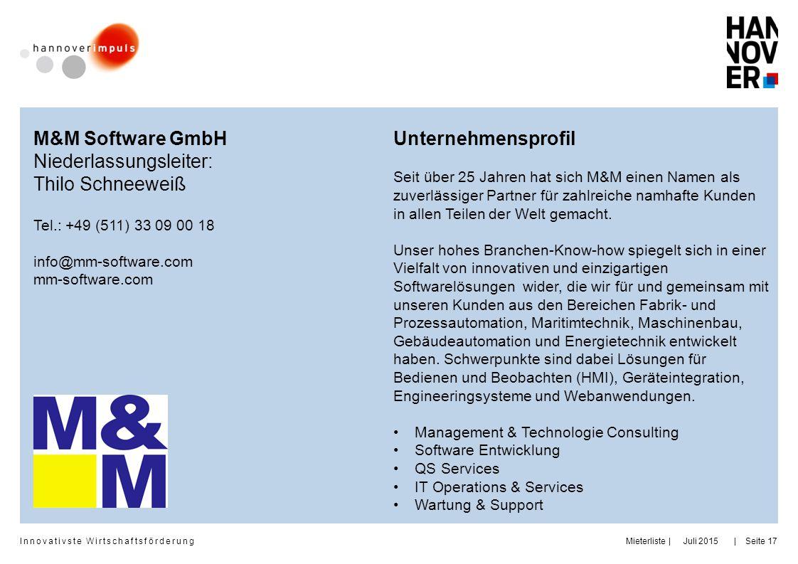 Niederlassungsleiter: Thilo Schneeweiß Unternehmensprofil