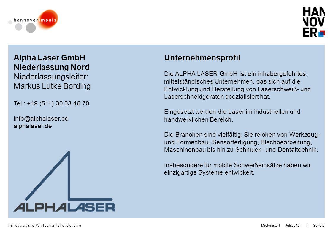 Niederlassungsleiter: Markus Lütke Börding Unternehmensprofil