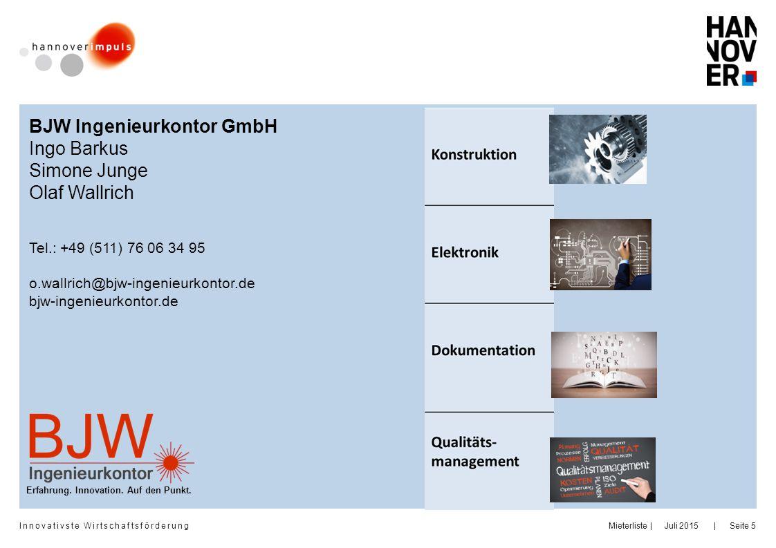 BJW Ingenieurkontor GmbH Ingo Barkus Simone Junge Olaf Wallrich
