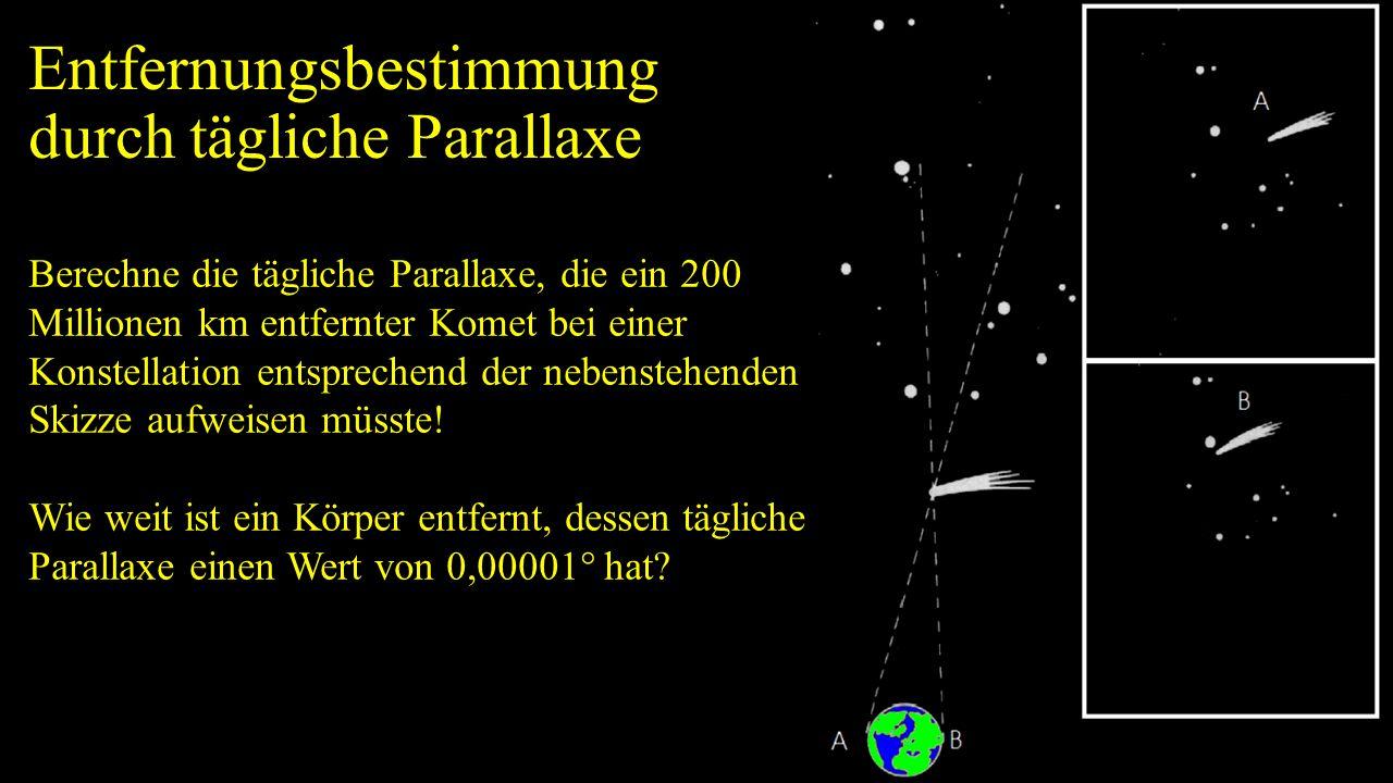 Entfernungsbestimmung durch tägliche Parallaxe