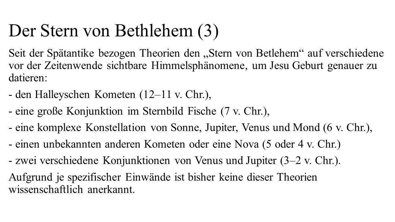 Der Stern von Bethlehem (3)