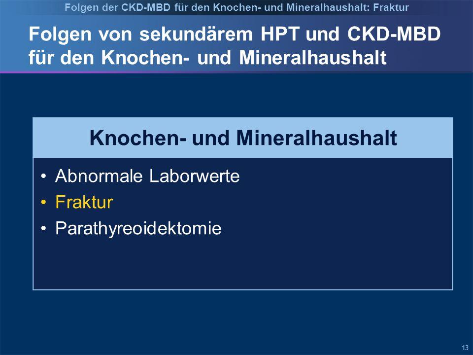 Folgen der CKD-MBD für den Knochen- und Mineralhaushalt: Fraktur
