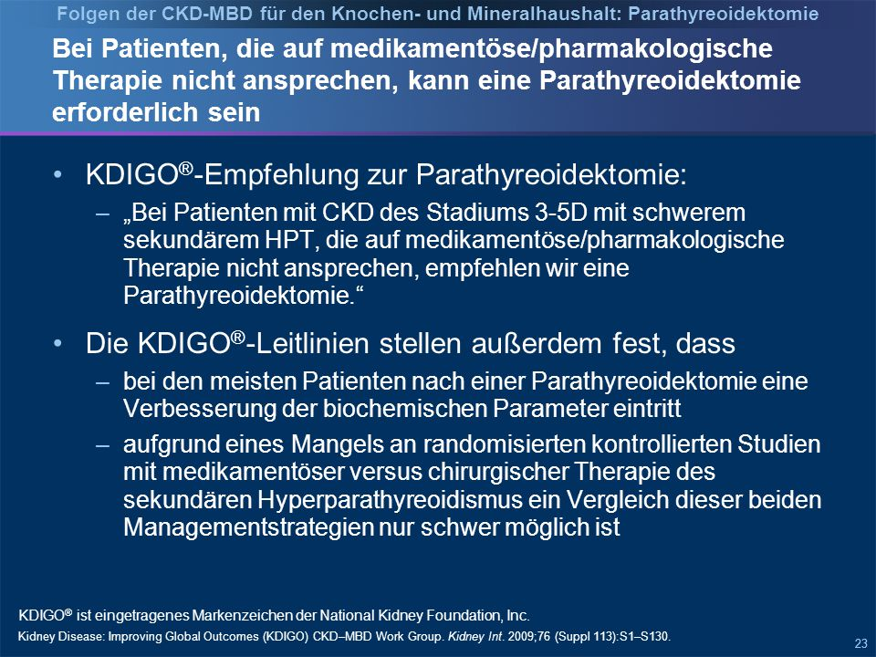 Adjustierte Hazard Ratio für Parathyreoidektomie