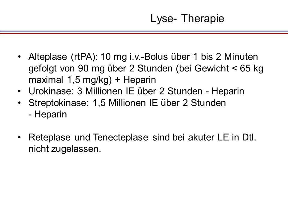 Lyse- Therapie