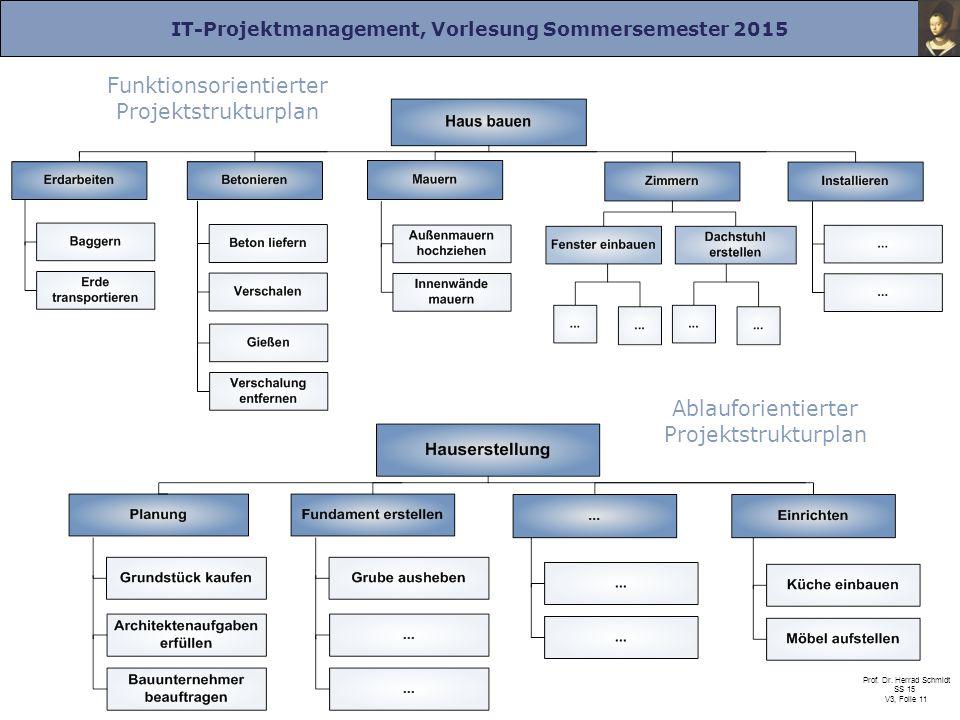 Funktionsorientierter Projektstrukturplan