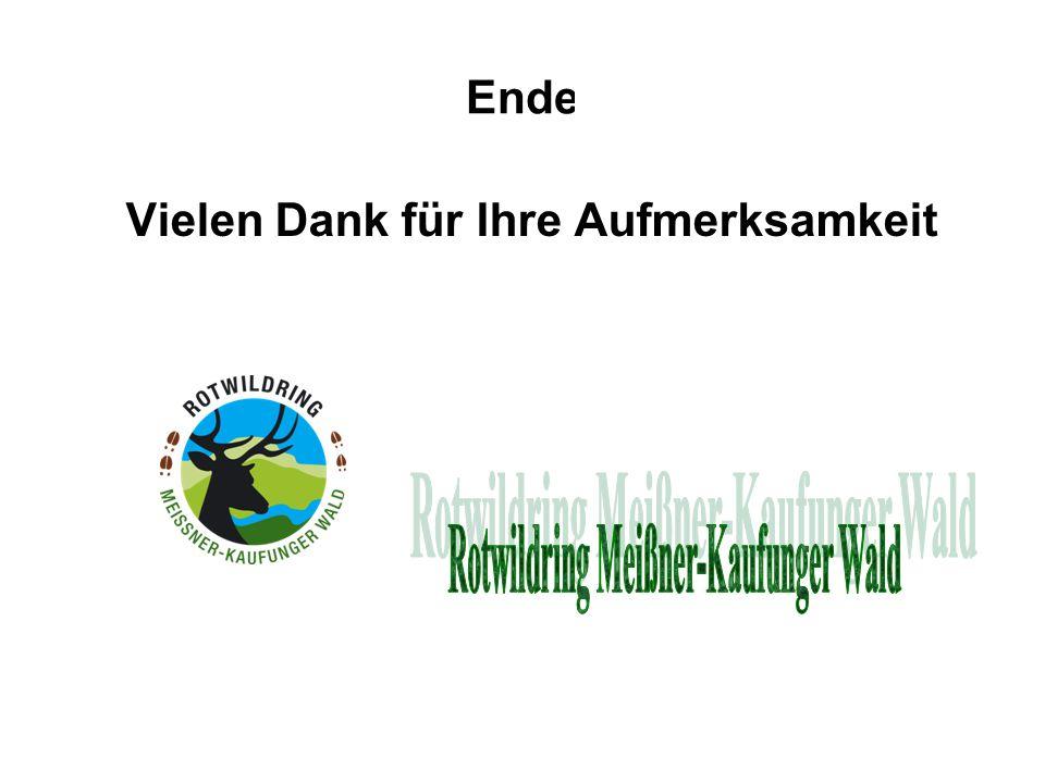 Vielen Dank für Ihre Aufmerksamkeit Rotwildring Meißner-Kaufunger Wald