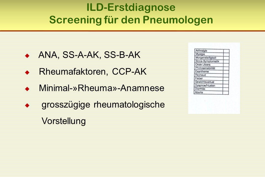 Screening für den Pneumologen