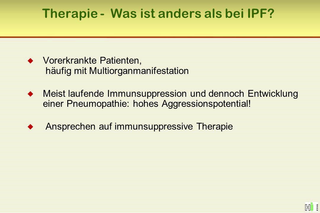 Therapie - Was ist anders als bei IPF