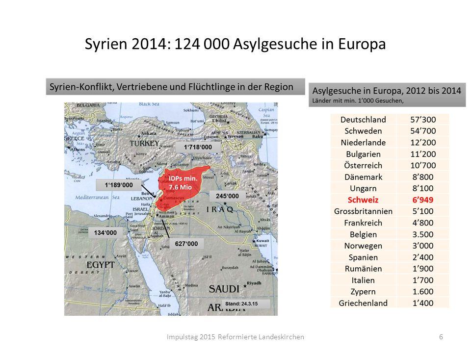 Syrien 2014: 124 000 Asylgesuche in Europa