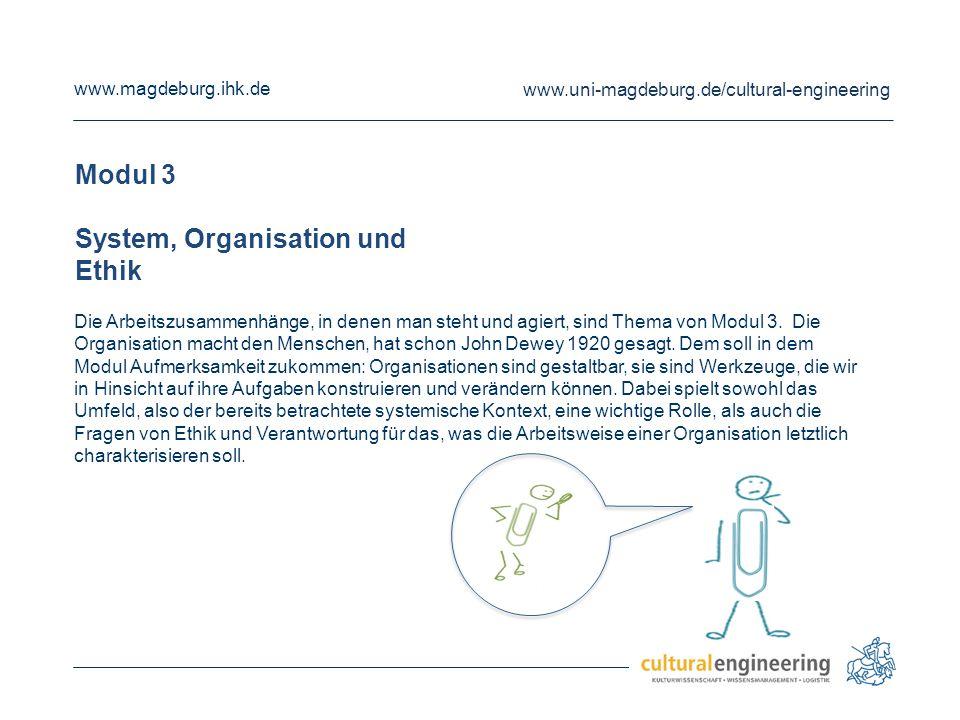 System, Organisation und Ethik
