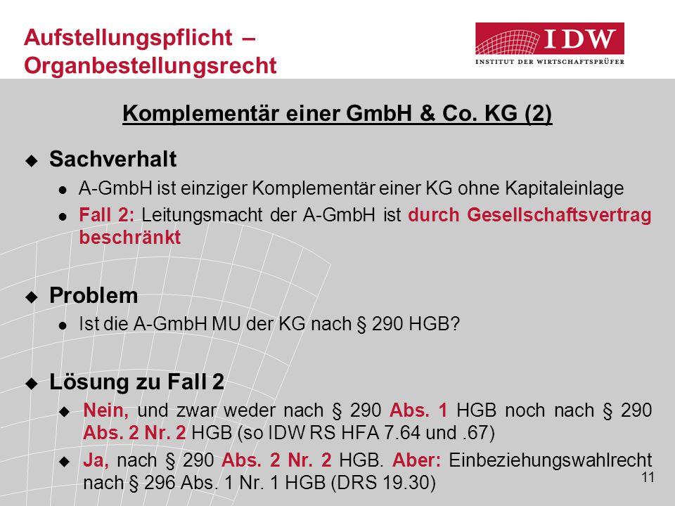 Komplementär einer GmbH & Co. KG (2)