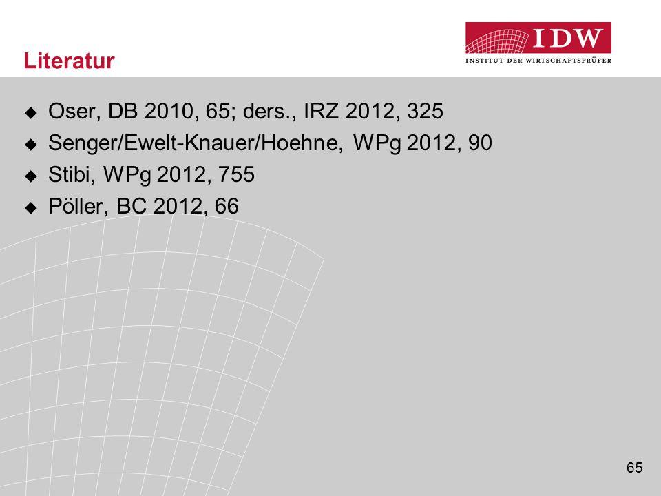 Literatur Oser, DB 2010, 65; ders., IRZ 2012, 325