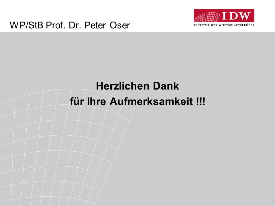 WP/StB Prof. Dr. Peter Oser
